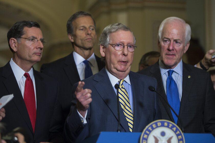 McConnell, Senators Vote on Trade Bill