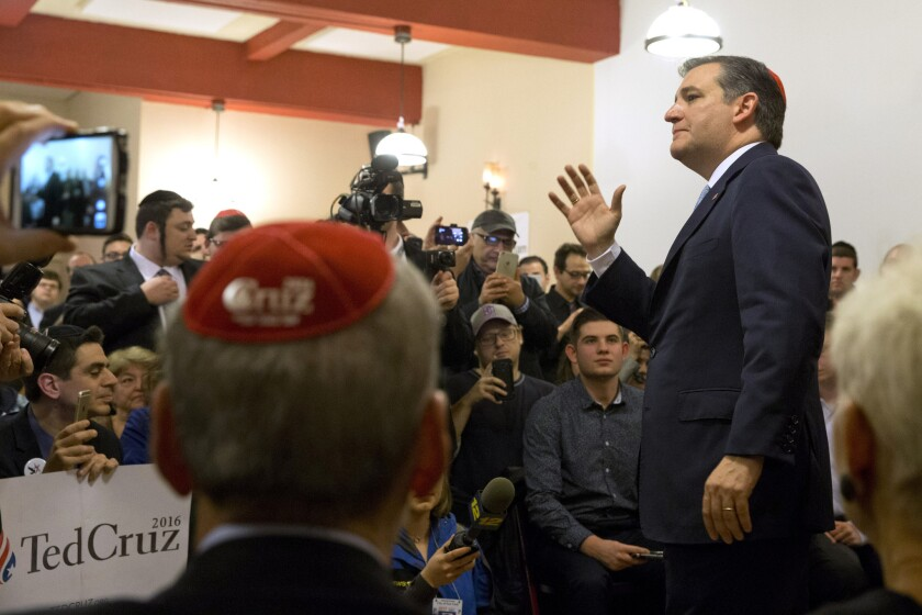 Ted Cruz visits the Jewish Center of Brighton Beach while campaigning in New York.
