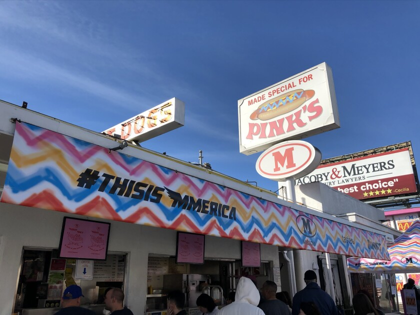 M Missoni takes over Pink's Hot Dogs