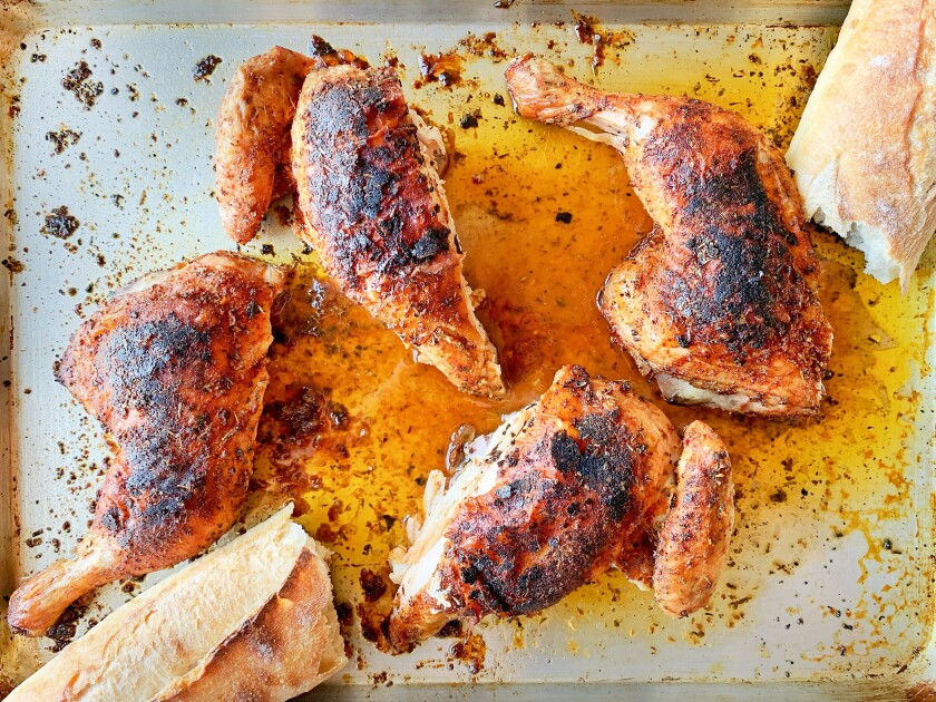 Butterflied chicken can be cooked in the oven or on the grill and makes a great picnic main to take on the go all summer long.