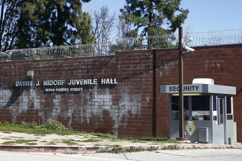 SYLMAR, CALIF. - FEBRUARY 22: The Barry J. Nidorf Juvenile Hall, photographed on Friday, Feb. 22, 20