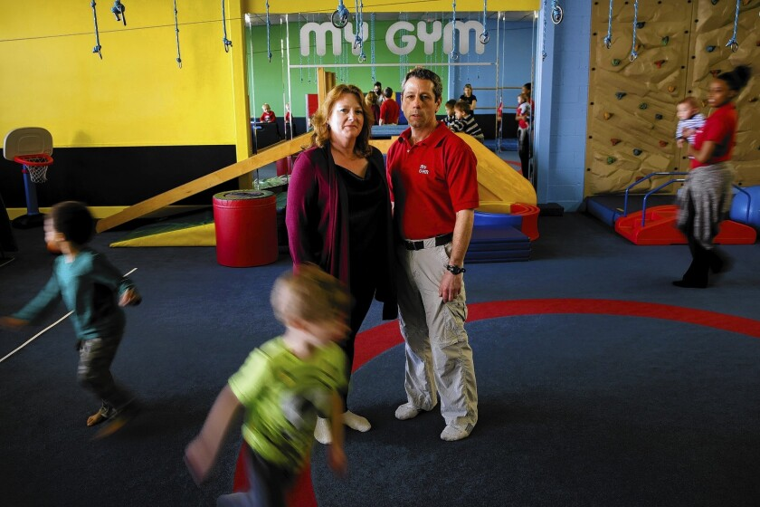 Melissa and Robert Meltzer inside their My Gym children's fitness franchise in Los Angeles. Melissa Meltzer said they'd been with LA Payroll for six or seven years, and that the first hint of trouble arrived in a state notice that their third-quarter taxes hadn't been paid. The fourth-quarter payments weren't made, either. All told, the business is out about $55,000, she said.
