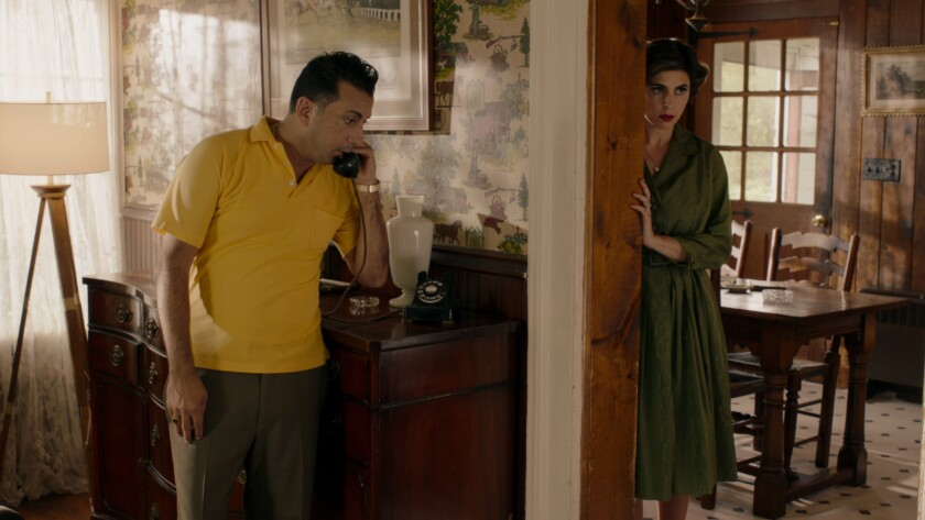 Nick Cordero and Jamie-Lynn Sigler in the movie 'Mob Town'