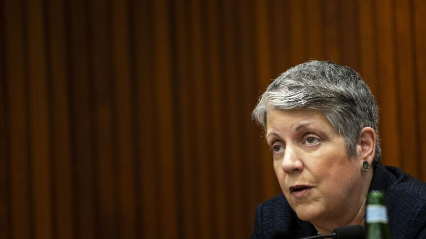 LOS ANGELES, CALIF. - MAY 17: Janet Napolitano, President of the University of California system spe
