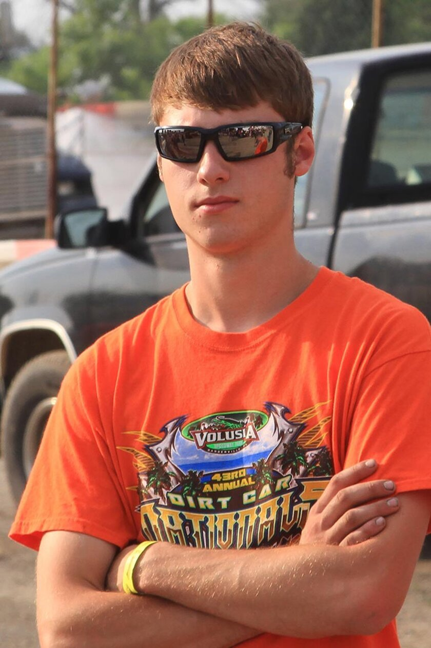 ADDS MANDATORY CREDIT- This June 28, 2014 photo provided by Empire Super Sprints, Inc., shows sprint car driver Kevin Ward Jr., at the Merrittville Speedway in Thorold, Canada. Ward was killed Saturday, Aug. 9, 2014 at the Canandaigua Motorsports Park in Central Square, N.Y., when the car being driven by Tony Stewart struck the 20-year-old who had climbed from his crashed car and was on the darkened dirt track trying to confront Stewart following a bump with Stewart one lap earlier. (AP Photo/Empire Super Sprints, Inc.)