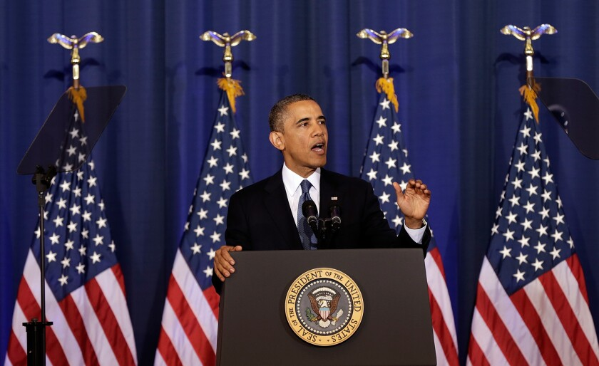 President Obama discusses his administration's counter-terrorism policy in May 2013.