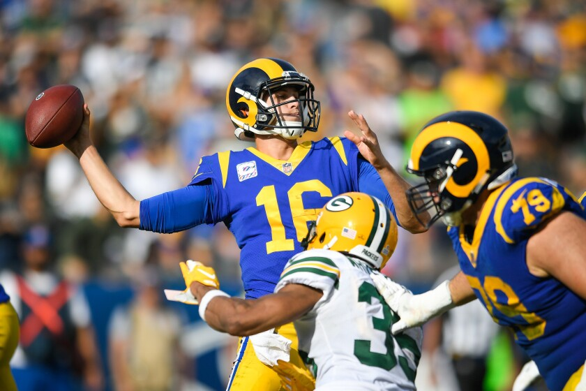 Green Bay Packers v Los Angeles Rams