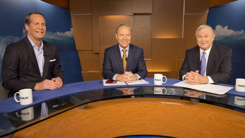 Inside OC with Rick Reiff, center, hosted a debate Monday between Dana Rohrabacher, representing Cal