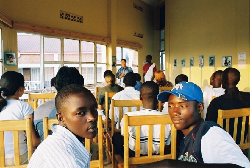 Students in a classroom in Rwanda