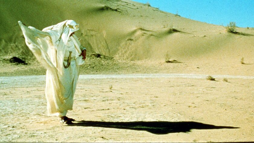 "Peter O'Toole in the movie ""Lawrence of Arabia."""