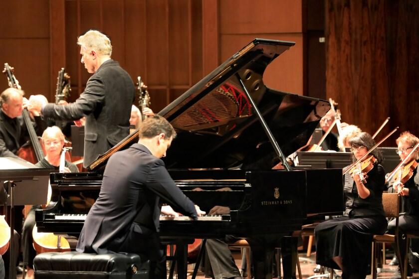 "Alessio Bax performs Beethoven ""Emperor"" Concerto as David Lockington conducts the Pasadena Symphony at the Ambassador Auditorium."