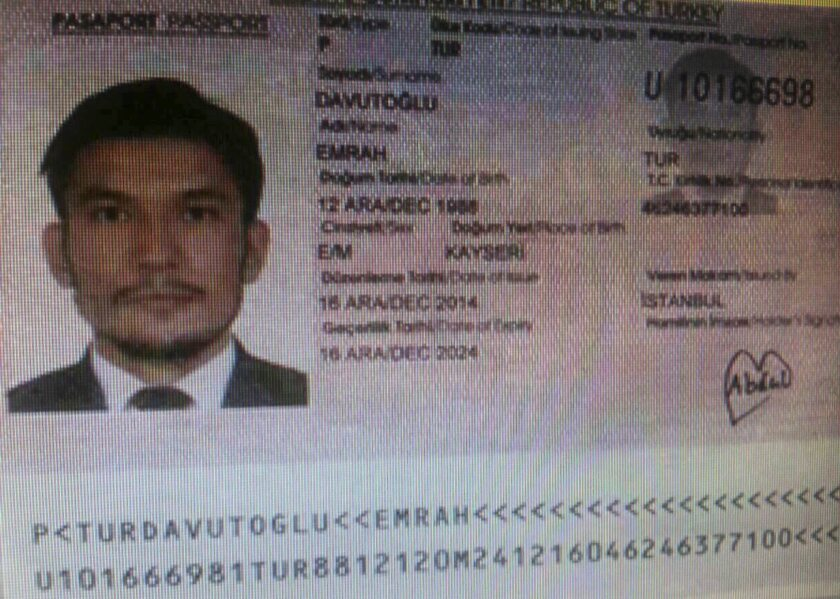 Thai police issued an arrest warrant on Sept. 2 for a Turkish suspect, identified as Emrah Davutoglu, who is wanted in connection with last month's bombing in Bangkok.