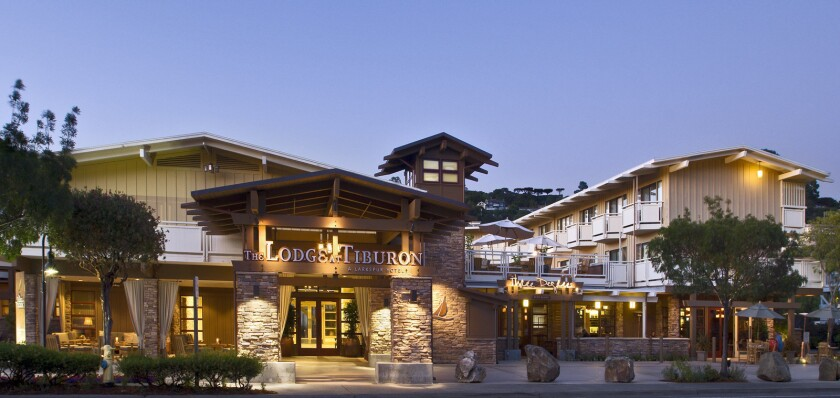 The Lodge at Tiburon across the bay from San Francisco in San Marin County.