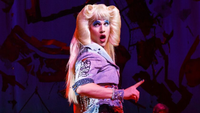 "Darren Criss in the title role of ""Hedwig and the Angry Inch"" at the Pantages."