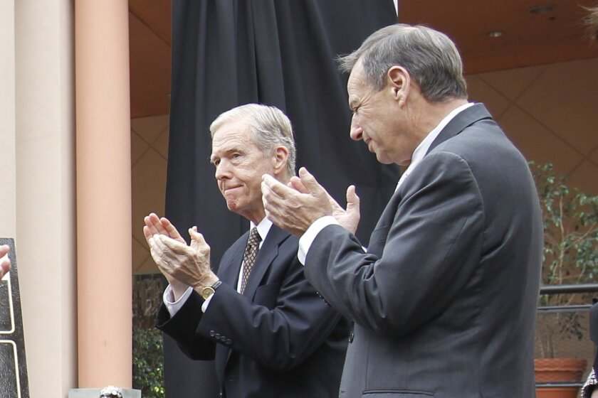 Pete Wilson and Bob Filner [U-T file]