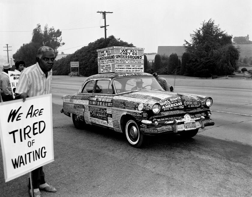 """Harry Adams, """"Protest Car, Los Angeles, """" 1962"""