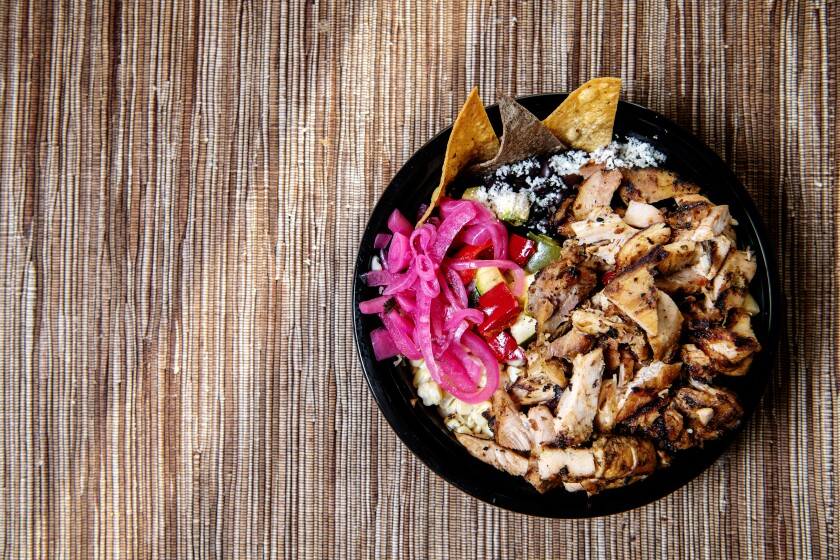 The Milpa bowl with grilled chicken