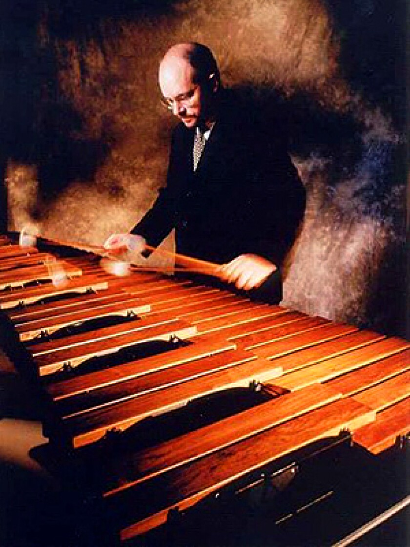 Concert-goers get to see the marimba in action, here played at an earlier concert by Robert van Sice.