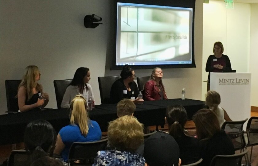 The film screening was held Sept. 21 at Mintz Levin.