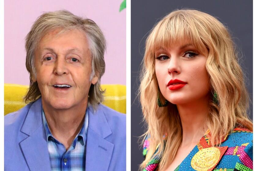 Paul McCartney and Taylor Swift