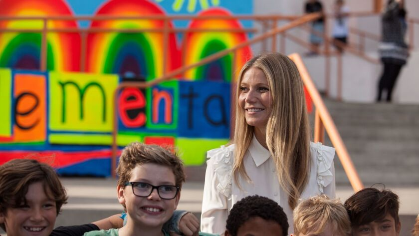 WEST HOLLYWOOD, CA--NOVEMBER 17, 2017: Gyweneth Paltrow was a special guest of the West Hollywood El
