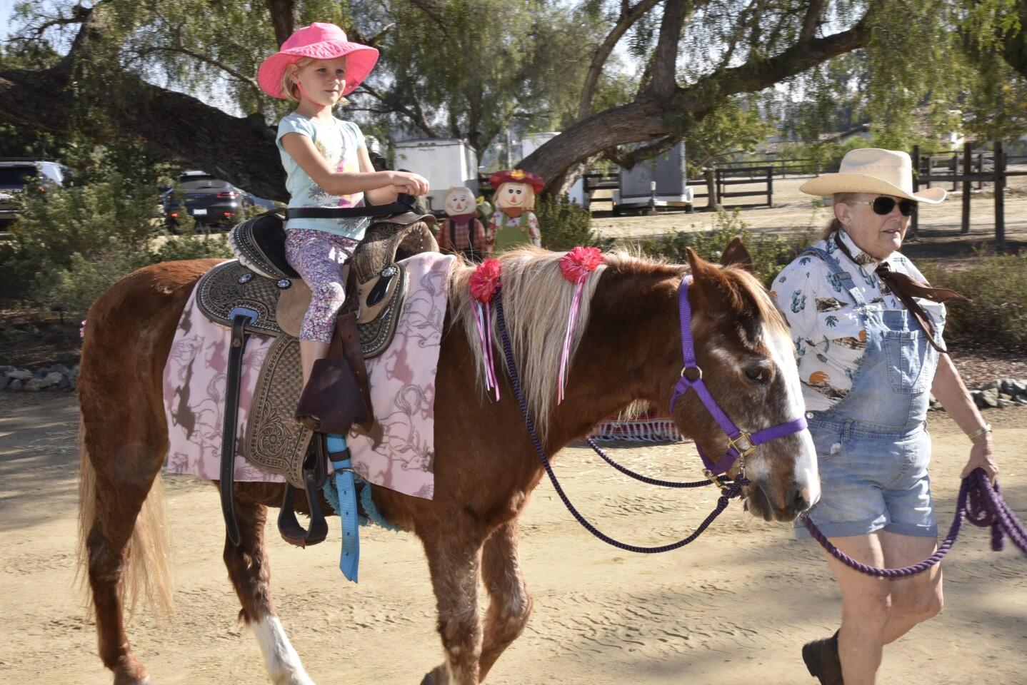 Sienna enjoys her pony ride