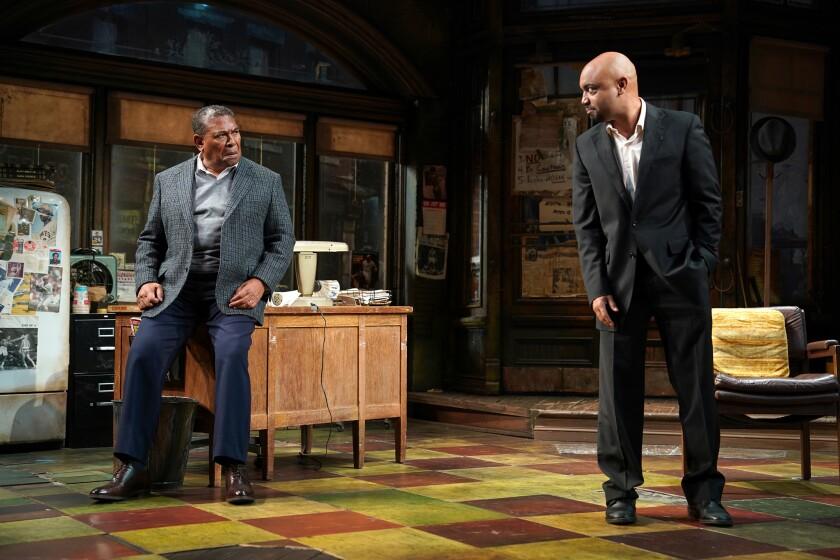 """Steven Anthony Jones as Becker and Francois Battiste as Booster in """"August Wilson's Jitney."""""""
