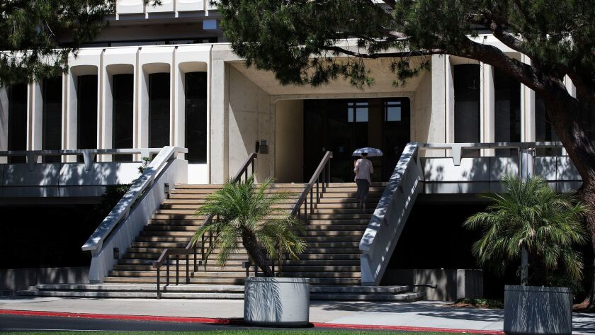 The admissions office at UC Irvine in Irvine, Calif on July 27.