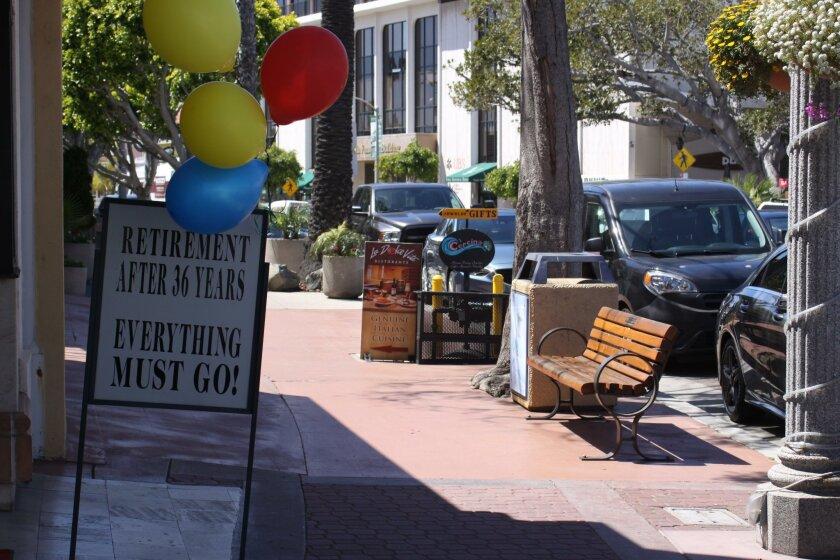 Sandwich boards spotted on Prospect Street last week.