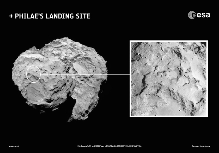 The ESA decides! When the comet lander Philae is deployed in mid-November, it will be headed to Site J on Comet 67P/Churyumov-Gerasimenko.