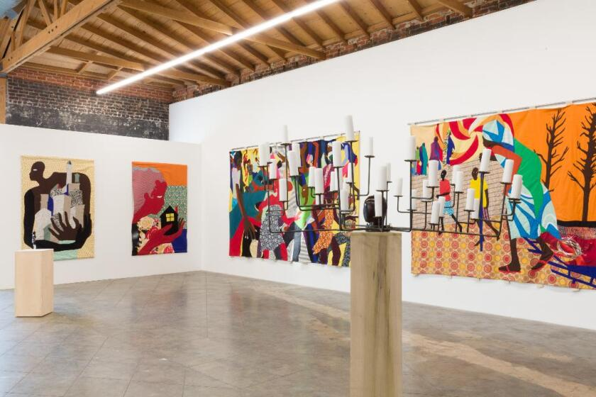 Installation view of Christopher Myers' show at Fort Gansevoort.