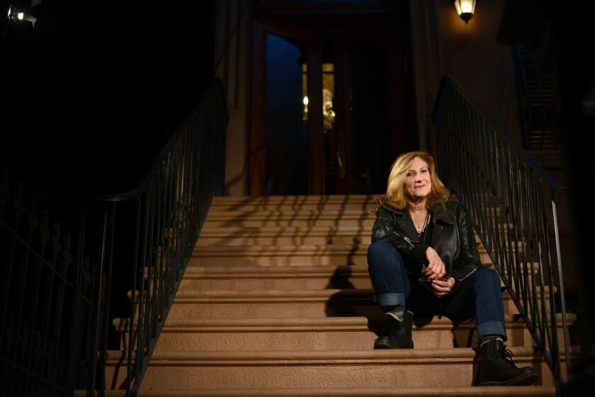 "Director Lesli Linka Glatter is shown on the set of ""Homeland"" in December in Brooklyn."