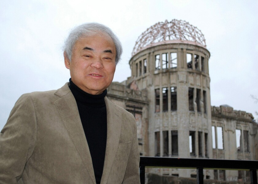 Cartoonist Keiji Nakazawa in Hiroshima in 2011.