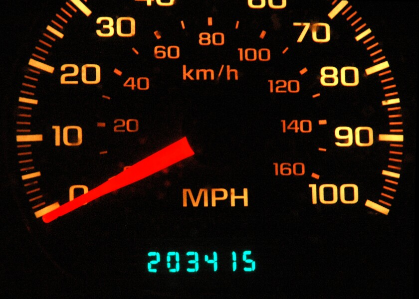 A car's odometer