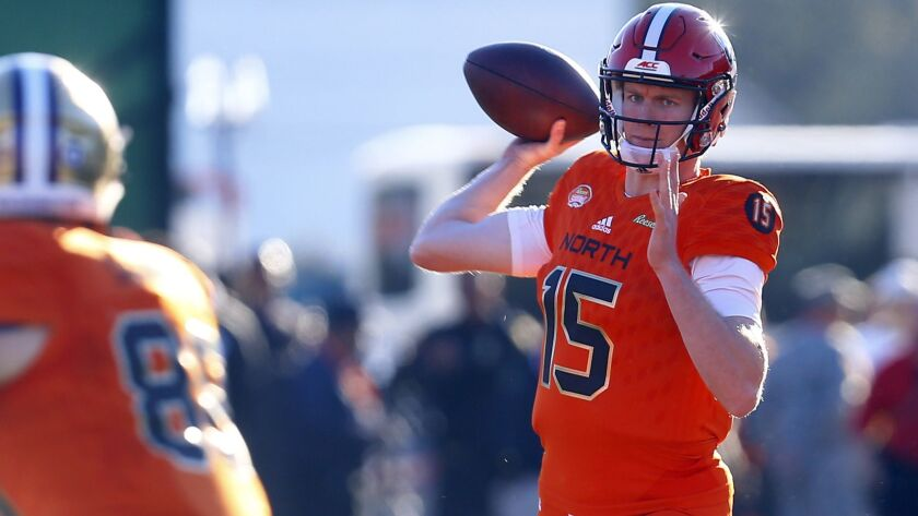 North quarterback Ryan Finley of North Carolina State (15) throws a pass during the second half of t