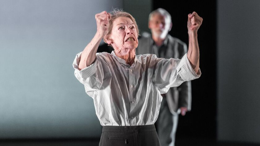 """Glenda Jackson plays King Lear in Shakespeare's """"King Lear"""" at The Old Vic in London. Credit: Manuel"""