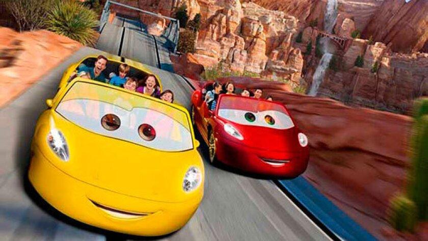 Radiator Springs Racers in Cars Land at Disney California Adventure