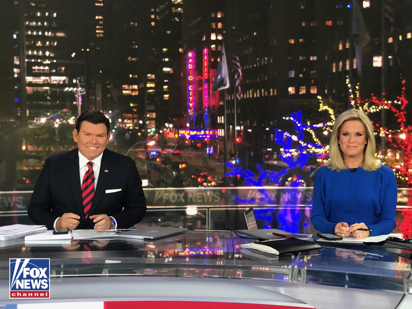 Fox News election night anchors Bret Baier and Martha MacCallum.