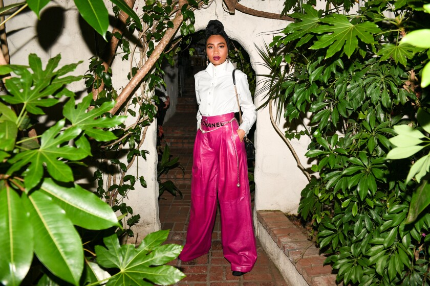 Singer-songwriter Yuna at the Chanel dinner in West Hollywood.