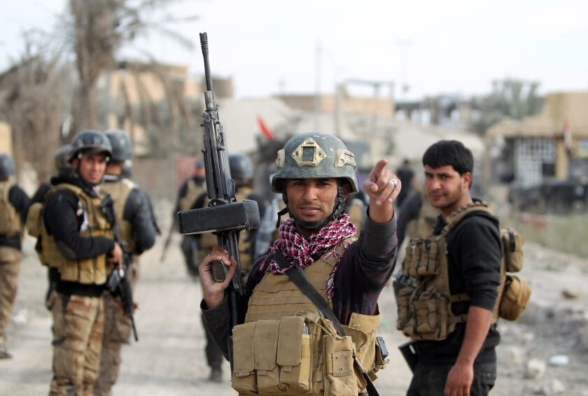 Iraqi forces in Ramadi