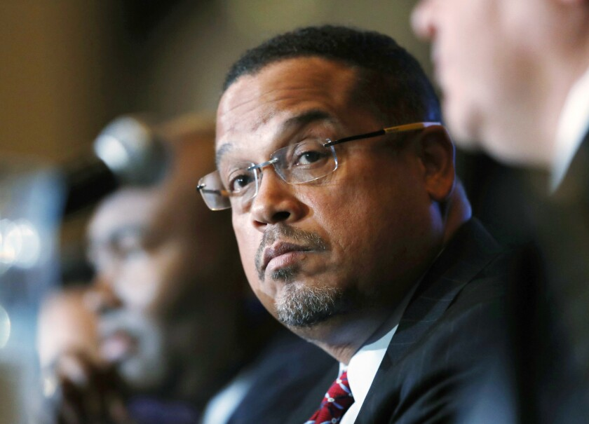Keith Ellison currently serves as deputy chair of the Democratic National Committee.
