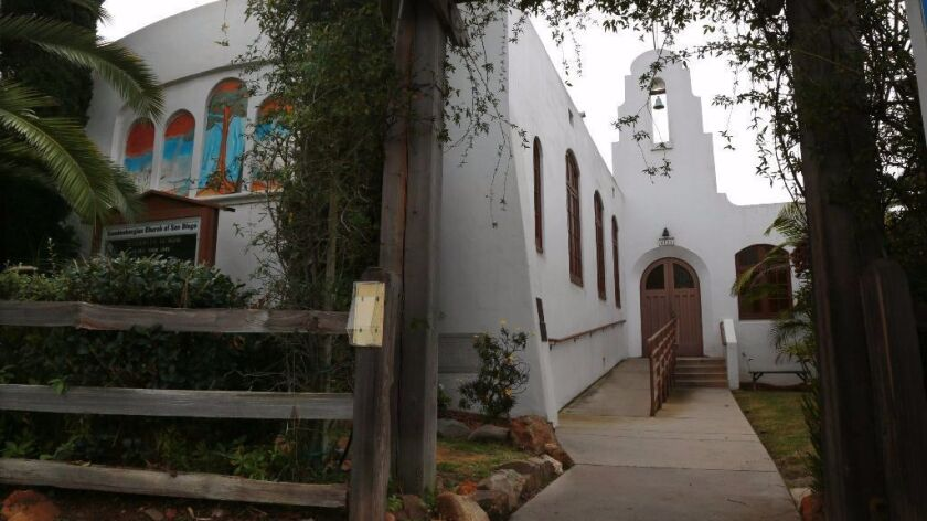The former Swedenborgian Church in University Heights opened in 1927 and was designed by famed architect Louis John Gill.