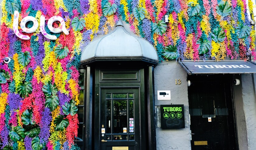"A living wall with the words ""Lola"" marks the start of a curative tour across Scandinavia."