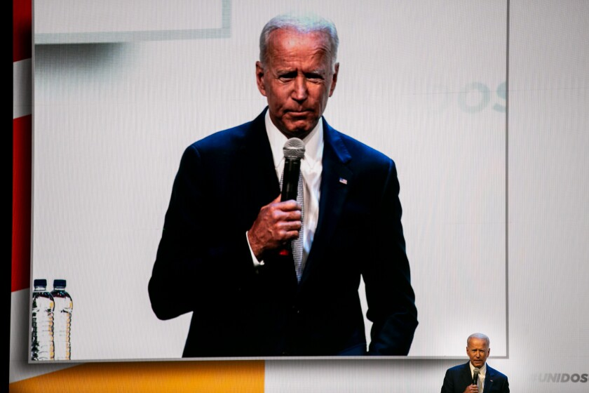 Joe Biden speaks at a UnidosUS Conference.