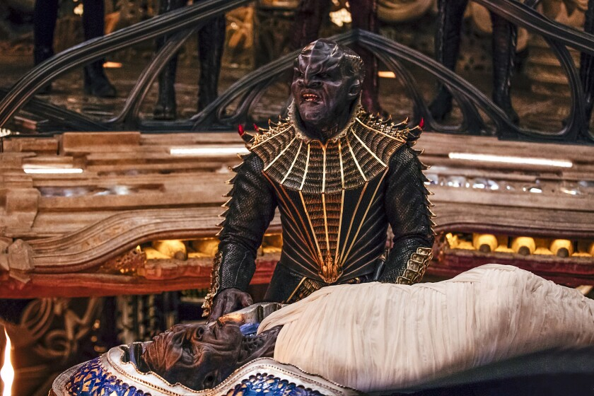 "Chris Obi as Klingon leader T'Kuvma in ""Star Trek: Discovery"" available on CBS All Access."
