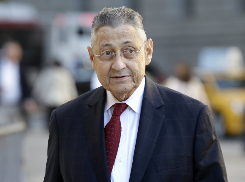 Former Assembly Speaker Sheldon Silver arrives to the courthouse for his corruption trial in New York, Tuesday, Nov. 3, 2015.  The 71-year-old Manhattan Democrat was arrested in January on charges he took nearly $4 million in kickbacks.  (AP Photo/Seth Wenig)