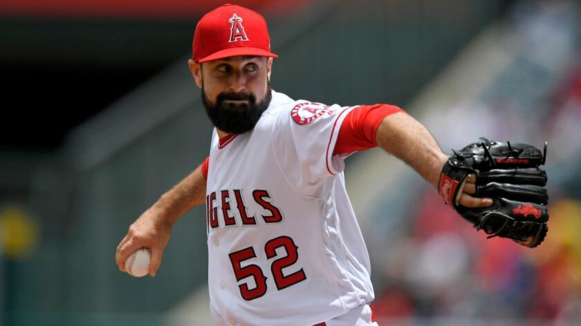 Angels starting pitcher Matt Shoemaker (1-2, 5.21 ERA) was charged with five runs in his six innings Sunday against the Astros.