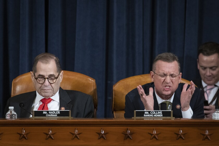 House Judiciary Committee poised to approve impeachment articles, but delays final vote to Friday