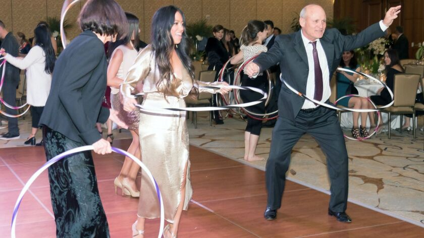 Guests braved the dance floor trying out Hula-Hoops.