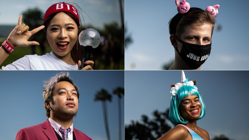 BTS fans strut in style at the K-pop boy band's Rose Bowl